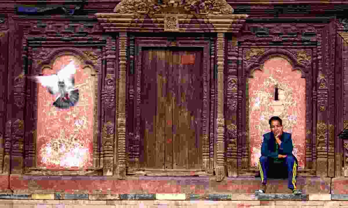Man in Durbar Square, Kathmandu (Dreamstime)
