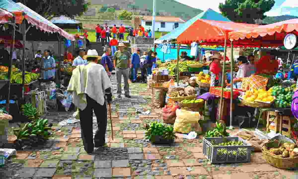 Farmers market in Villa de Leyva (Dreamstime)