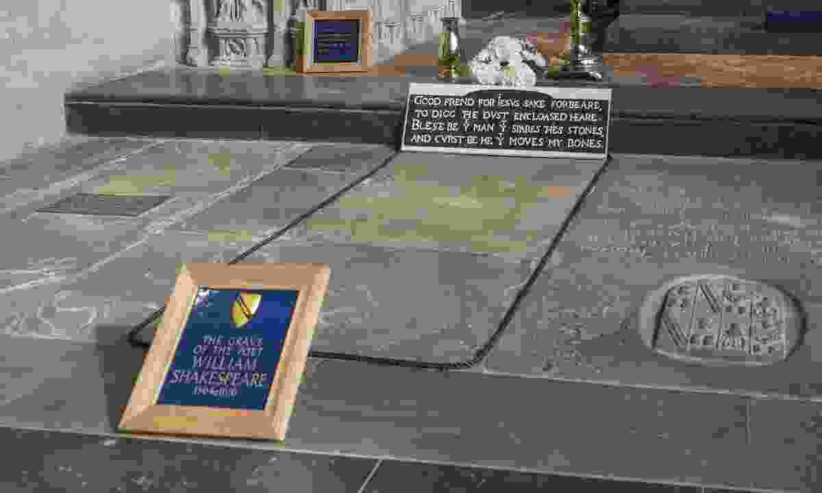 Grave of William Shakespeare in Holy Trinity Church (Dreamstime)