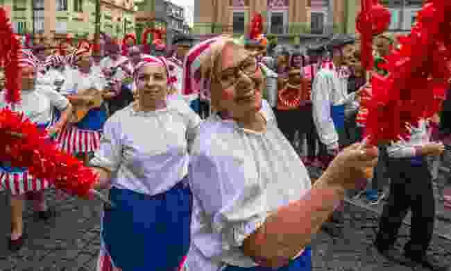 Celebrating at the Festival of Saint John in Porto, Portugal (Dreamstime)