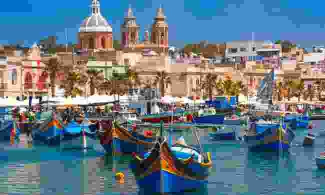 Traditional boats in fishing village of Marsaxlokk, Malta (Dreamstime)