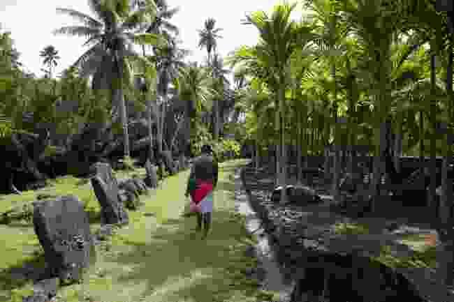 A village elder visits a Yap jungle bank (Shutterstock)