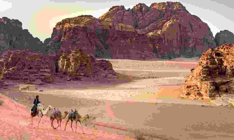 Bedouin and camels in Wadi Rum (Shutterstock)