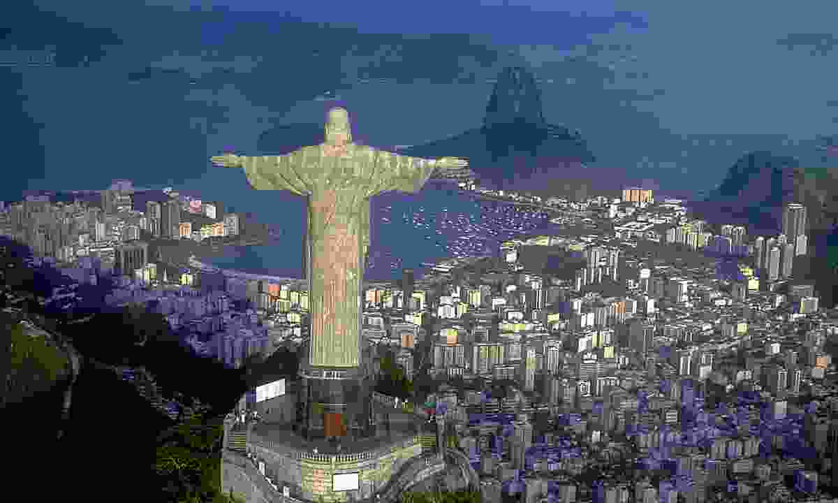 Christ the Redeemer overlooking Guanabara Bay (Shutterstock)