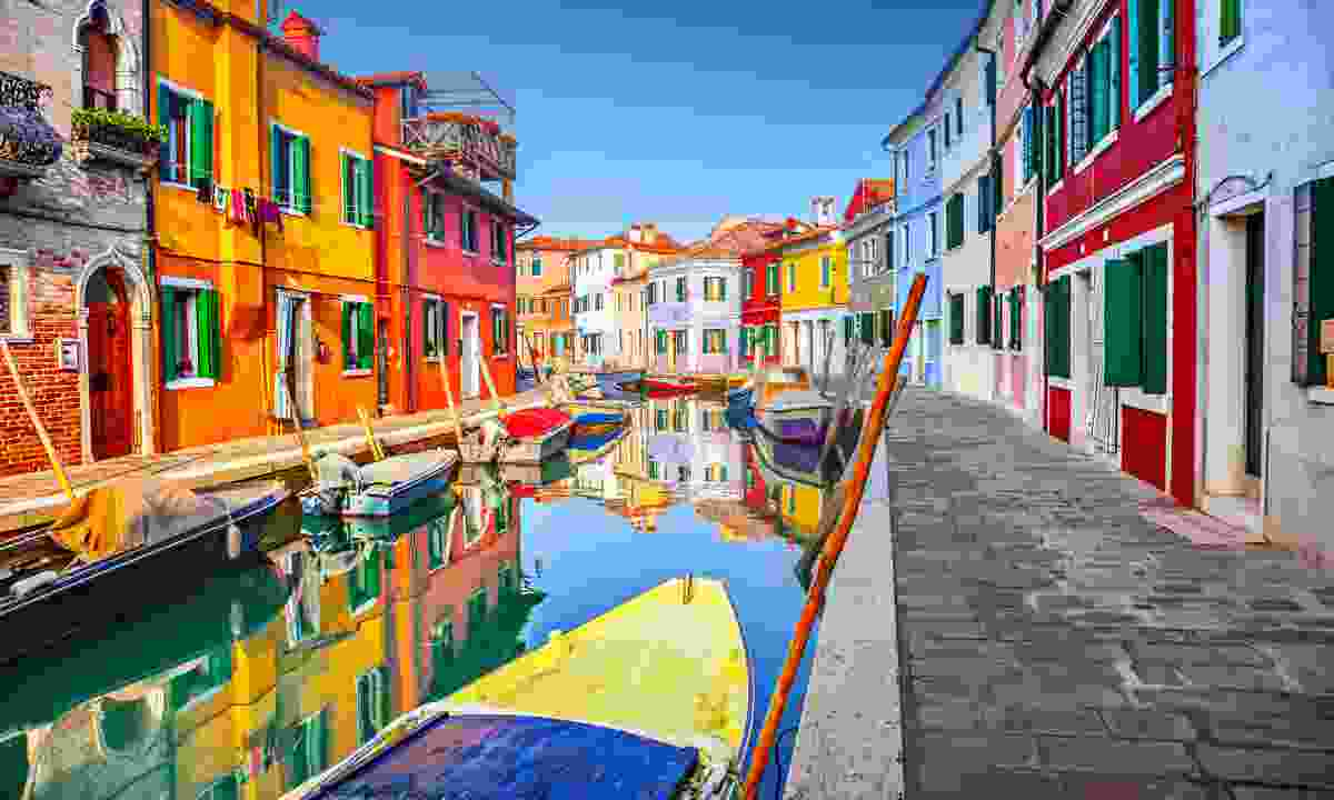 Colourful houses in Burano, Venice (Shutterstock)