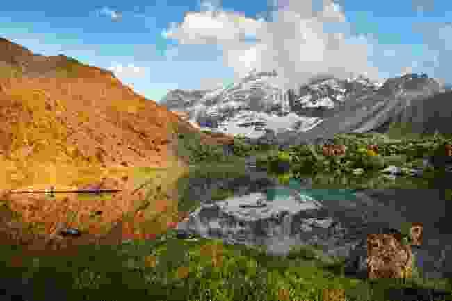 A lake in the Fan Mountains, Tajikistan (Shutterstock)
