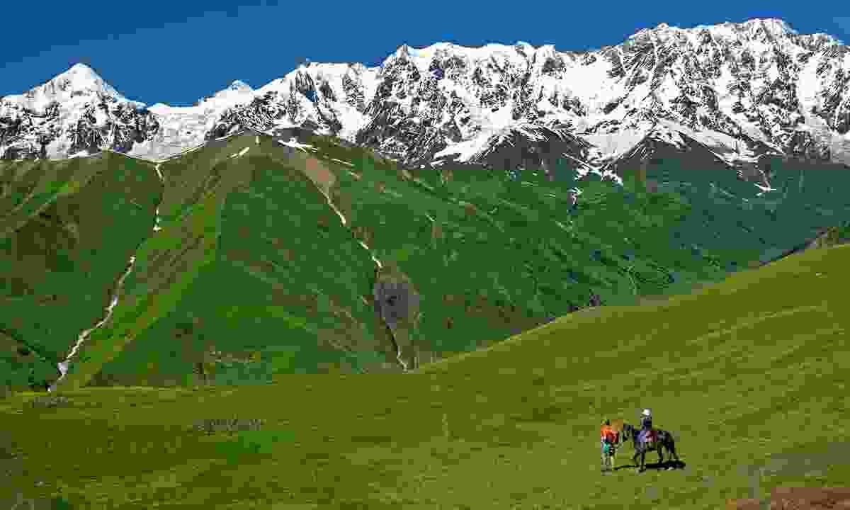 Horse riding near Ushguli (Shutterstock)