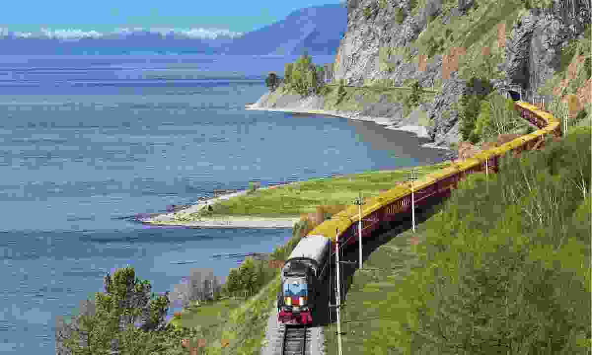 Tsar's Gold running beside Lake Baikal (Shutterstock)