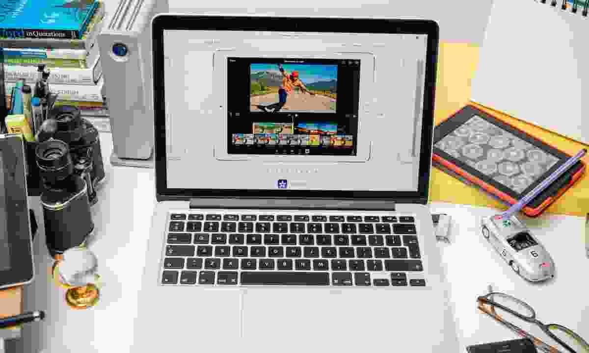 Video editing on iMovie (Dreamstime)