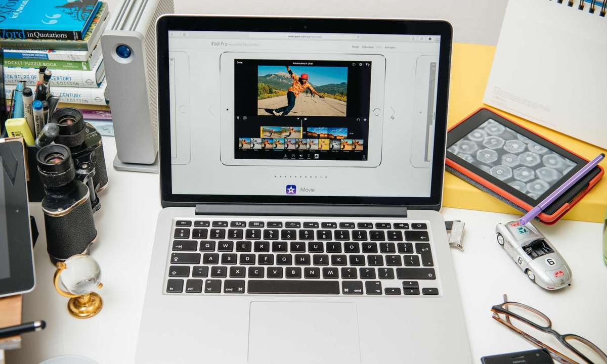 Video editing on iMovie (Dreamstime)