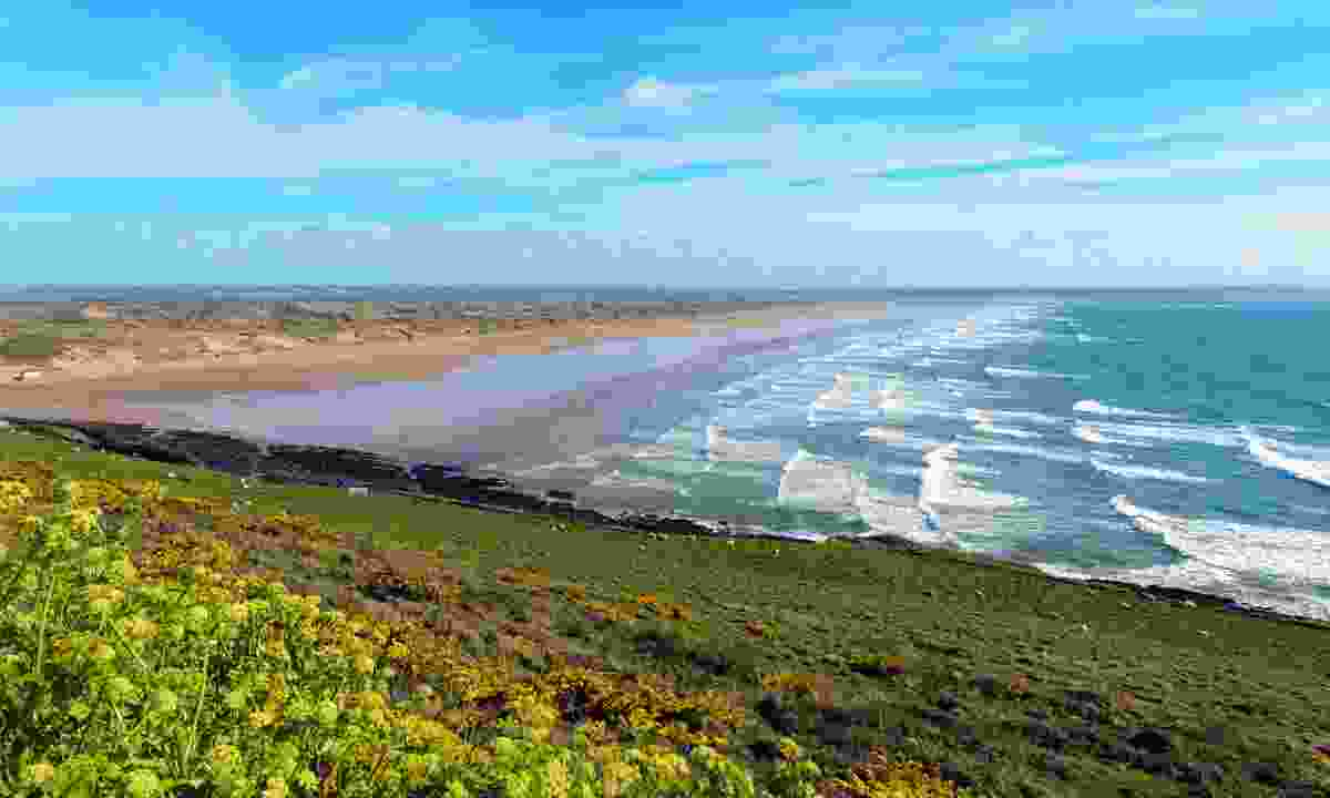 Coastal view over Saunton Sands in North Devon (Dreamstime)