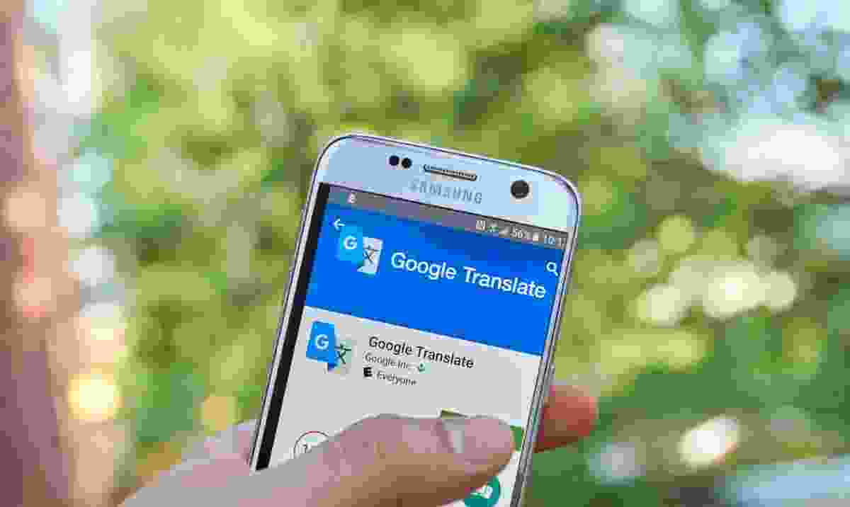Google translate on Samsung phone (Dreamstime)