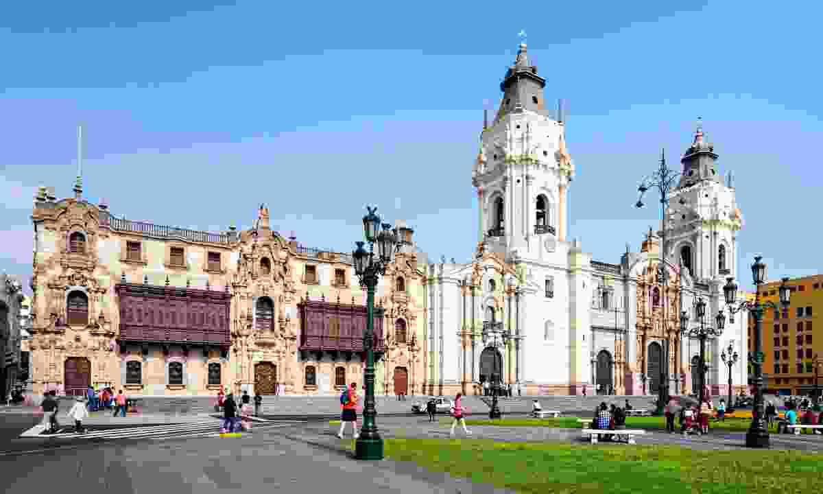 The Basillica Cathedral of Lima, Peru (Dreamstime)