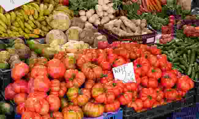 Tomatoes for sale in Andalucía (Dreamstime)