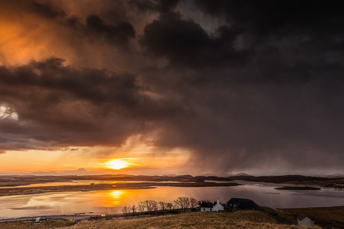 Sunset on the coast of the Isle of Lewis (Chris Orange)
