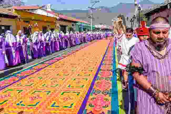 Locals re-enacting biblical scenes in Antigua, Guatemala from Holy Week (Shutterstock)