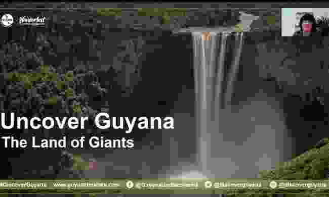 Lyn Hughes kicked off the evening by telling us about how much she loved her time in Guyana, especially the incredible Kaieteur Falls.