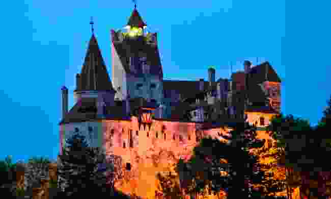 Dracula's Castle at night (Dreamstime)