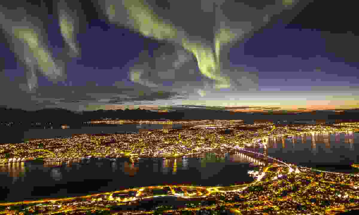 Aurora Borealis over Tromsø, Norway (Dreamstime)