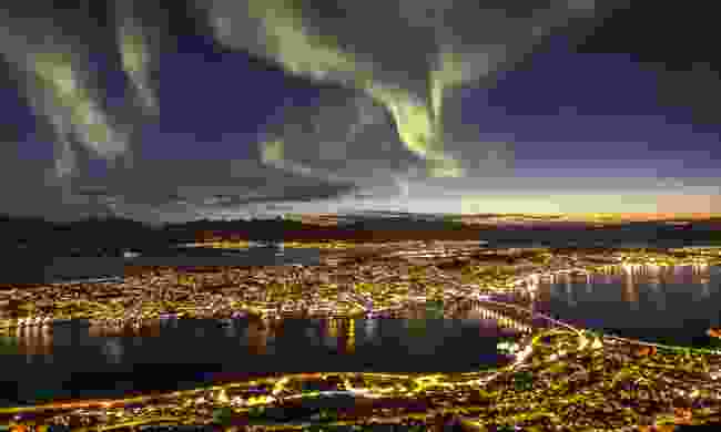 Aurora Borealis over Tromsø, Norway (Dreamstime)
