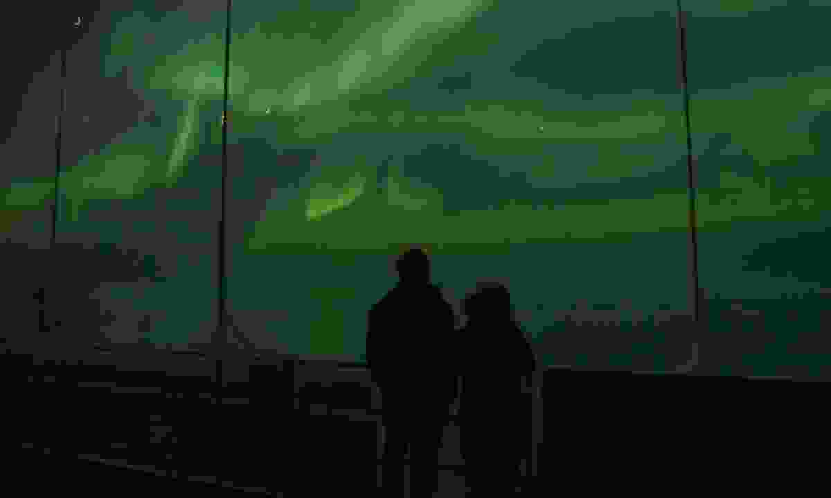 People captivated by the aurora (Phoebe Smith)