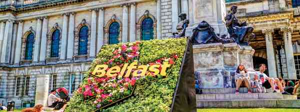 Belfast City Hall looks out over Donegall Square (Shutterstock)