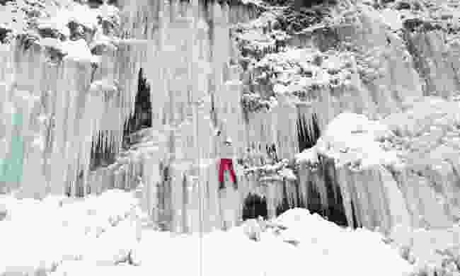 Ice climbing the waterfall (Shutterstock)