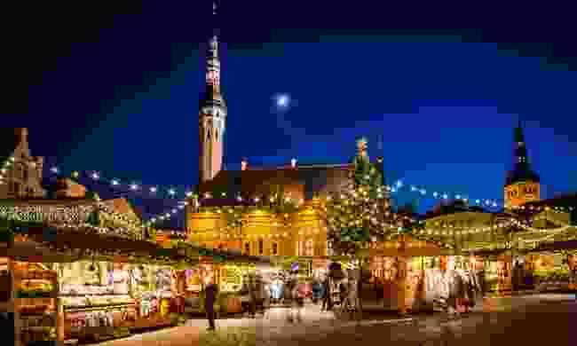 Tallinn at Christmas (Shutterstock)