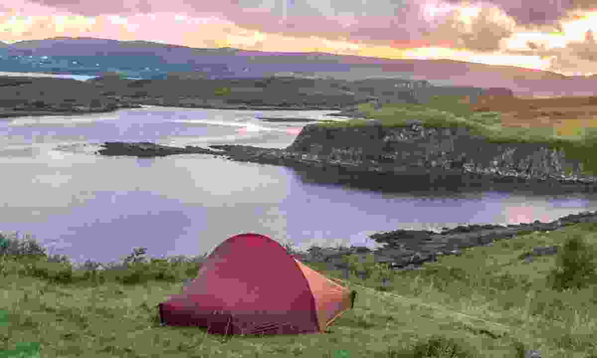 Plot big adventures close to home: Camping on the shores of Dunvegan Loch, Scotland (Shutterstock)