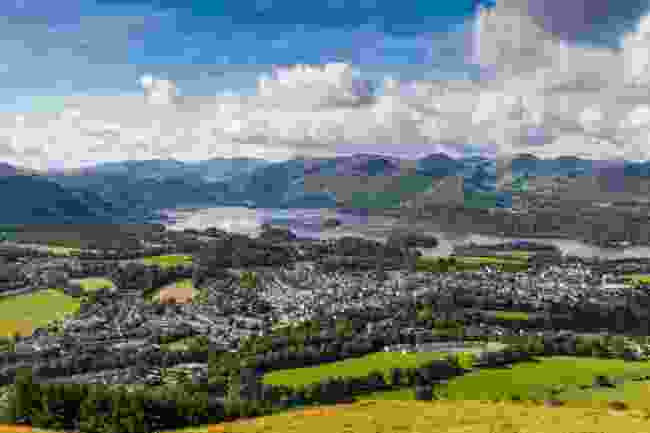 The view of Keswick and Lake Derwent from Latrigg, Cumbria (Shutterstock)