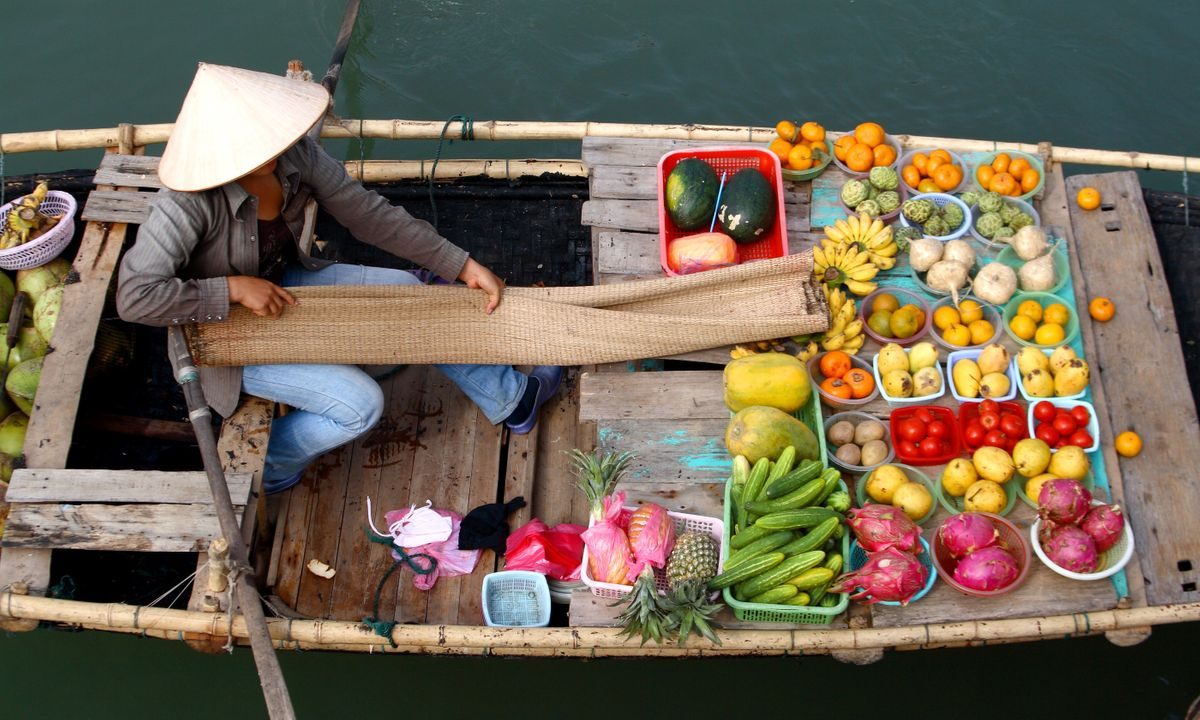 Fresh fruit for sale at the floating market (Dreamstime)