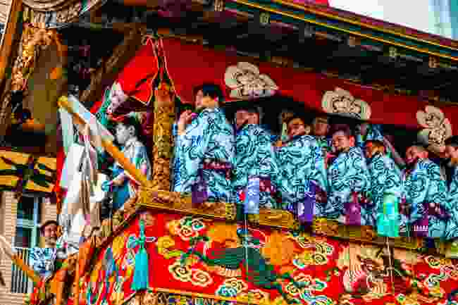 Musicians on top of a float, Kyoto, Japan (Shutterstock)