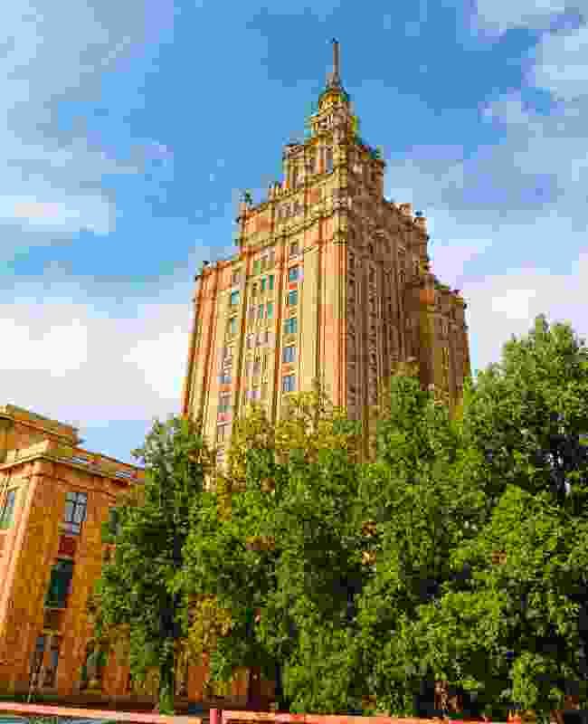 Stalin's 'birthday cake', the Latvian Academy of Sciences (Shutterstock)