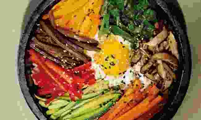 Bibimbap recipe, from Korean Home Cooking (Zach and Buji)