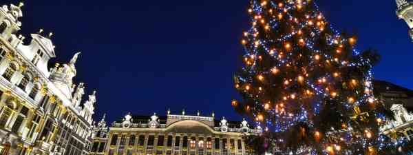 Grand Place at Christmas, Brussels (Shutterstock)