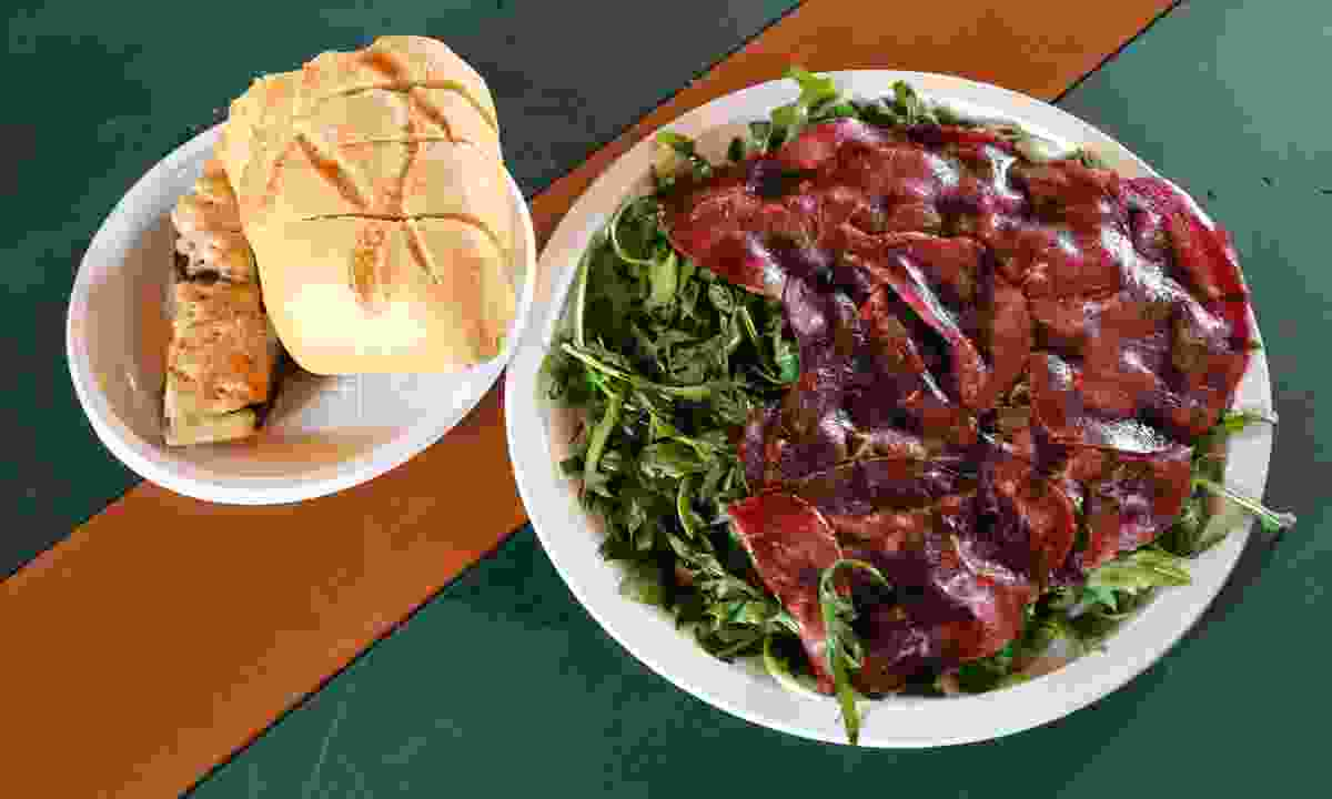 Bresaola served with rocket salad (Graeme Green)