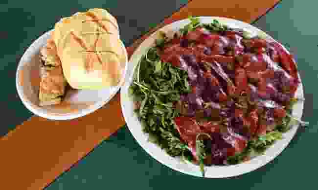 Bresaola served with rocket salad (Graeme Green)
