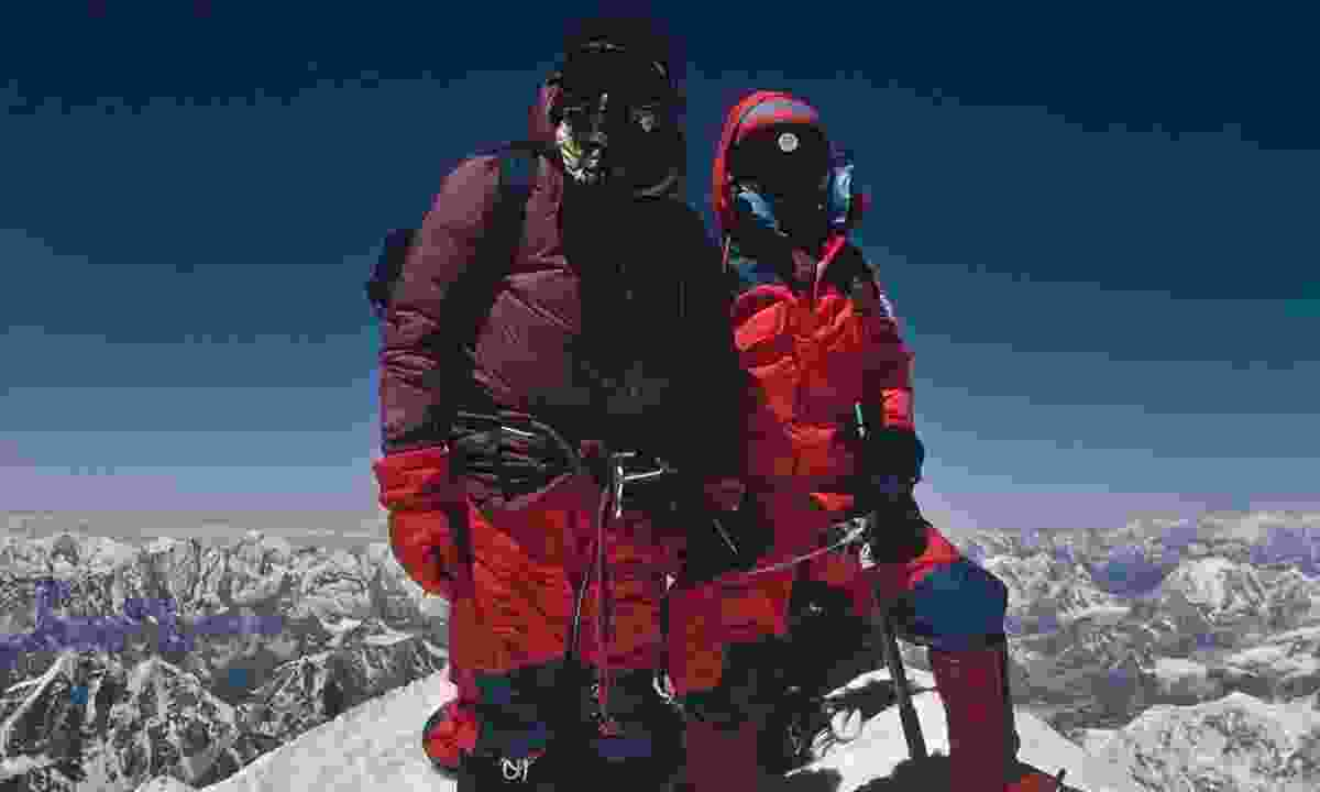 Sir Chris finally reaches the top of Everest (Chris Bonington Picture Library)