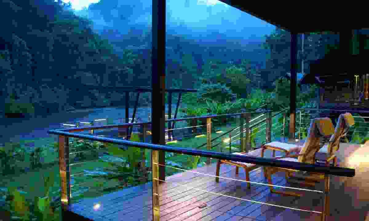 A lodge overlooking Danum Valley (Borneo Rainforest Lodge)