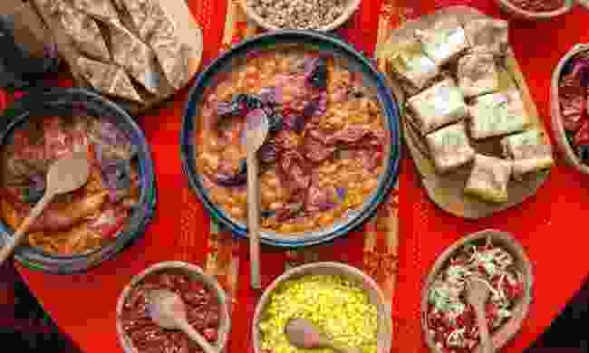 Traditional Balkan feast (Dreamstime)