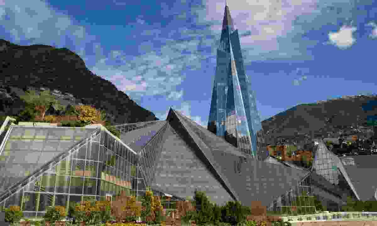 Modern glass pyramid in Escaldes-Engordany (Dreamstime)