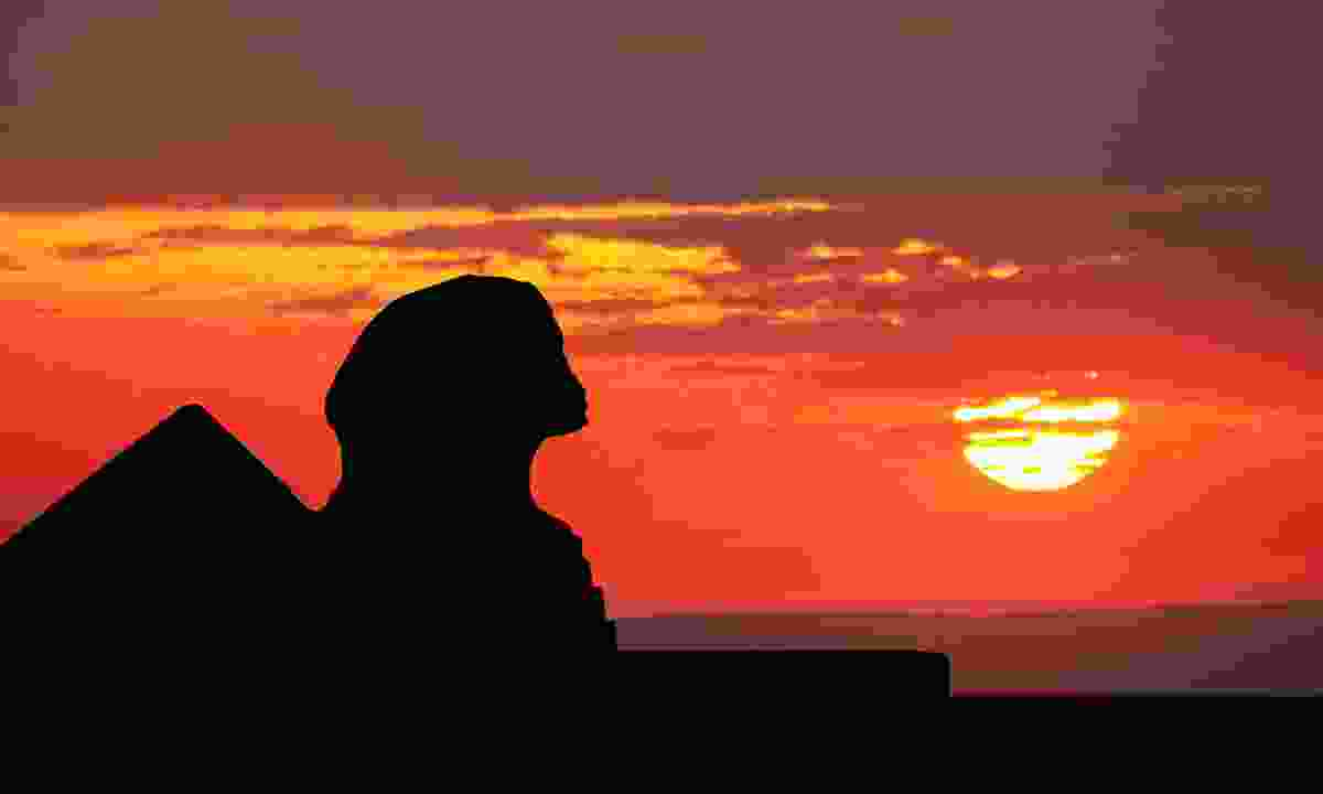 The Sphinx enjoying a particularly spectacular sunset (Dreamstime)