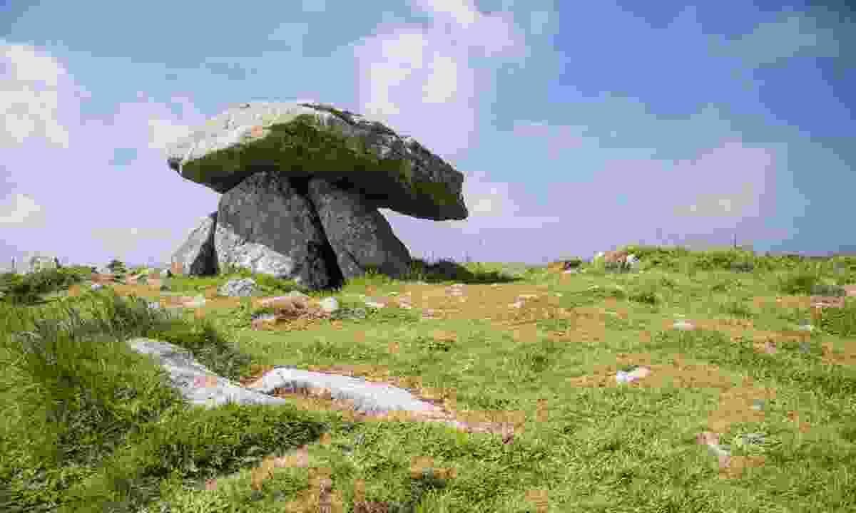 The centre stone in Chun Quoit (Dreamstime)