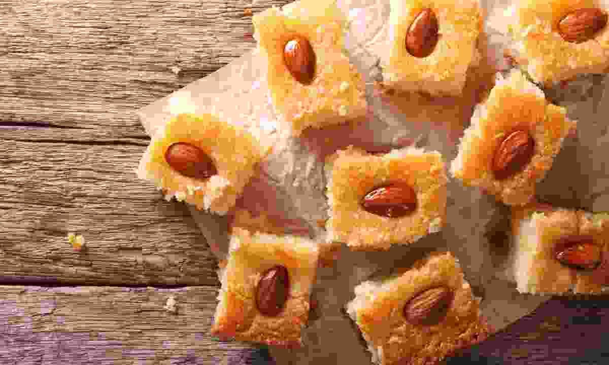 Basbousa with almonds (Dreamstime)