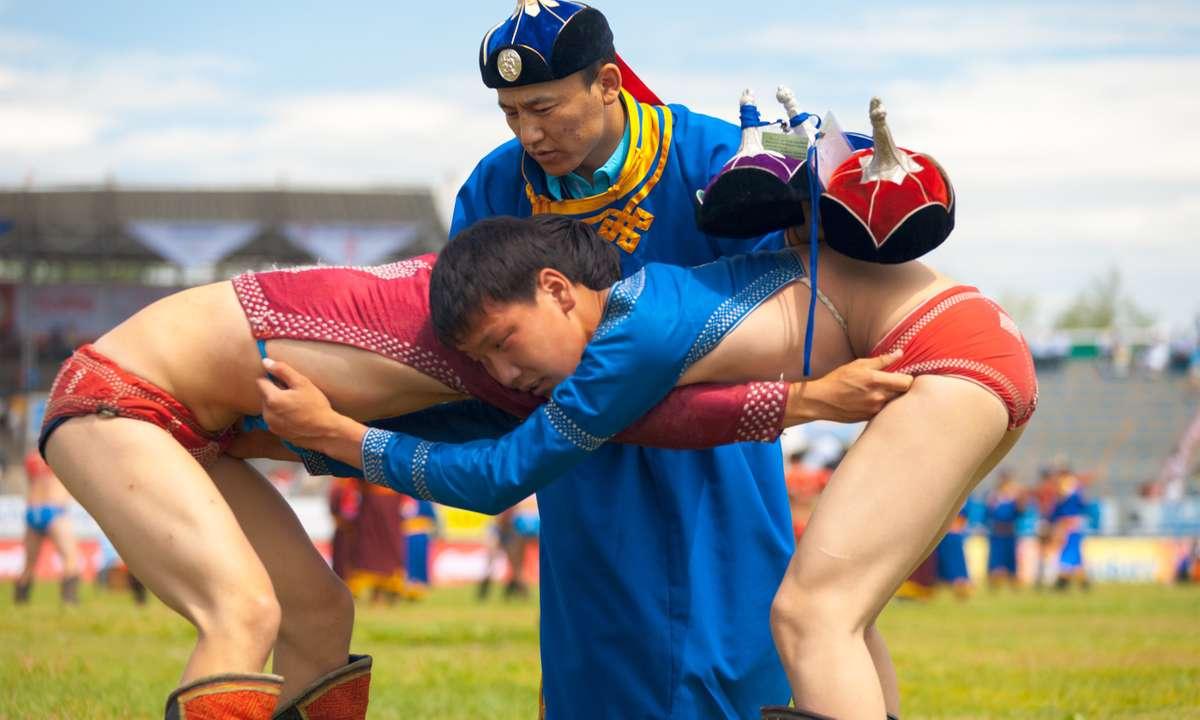 Naadam wrestlers (Dreamstime)