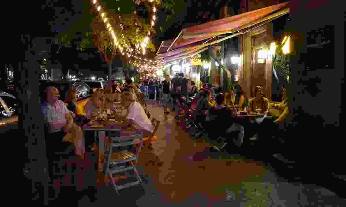Dining at night in Yerevan (Peter Moore)