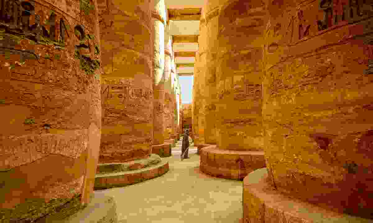 Guard at Karnak Temple (Shutterstock)