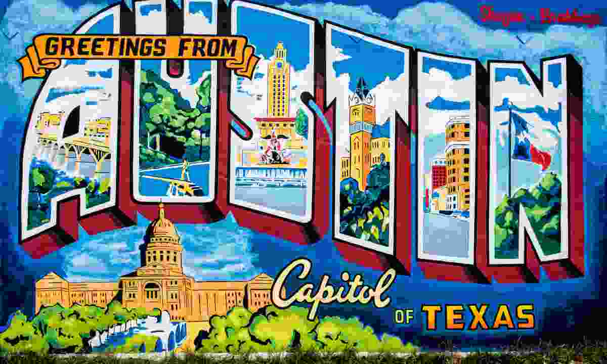 Greetings from Austin sign (Shutterstock)
