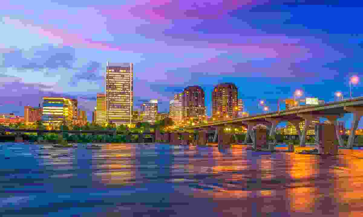 Virginia River skyline in Richmond (Dreamstime)