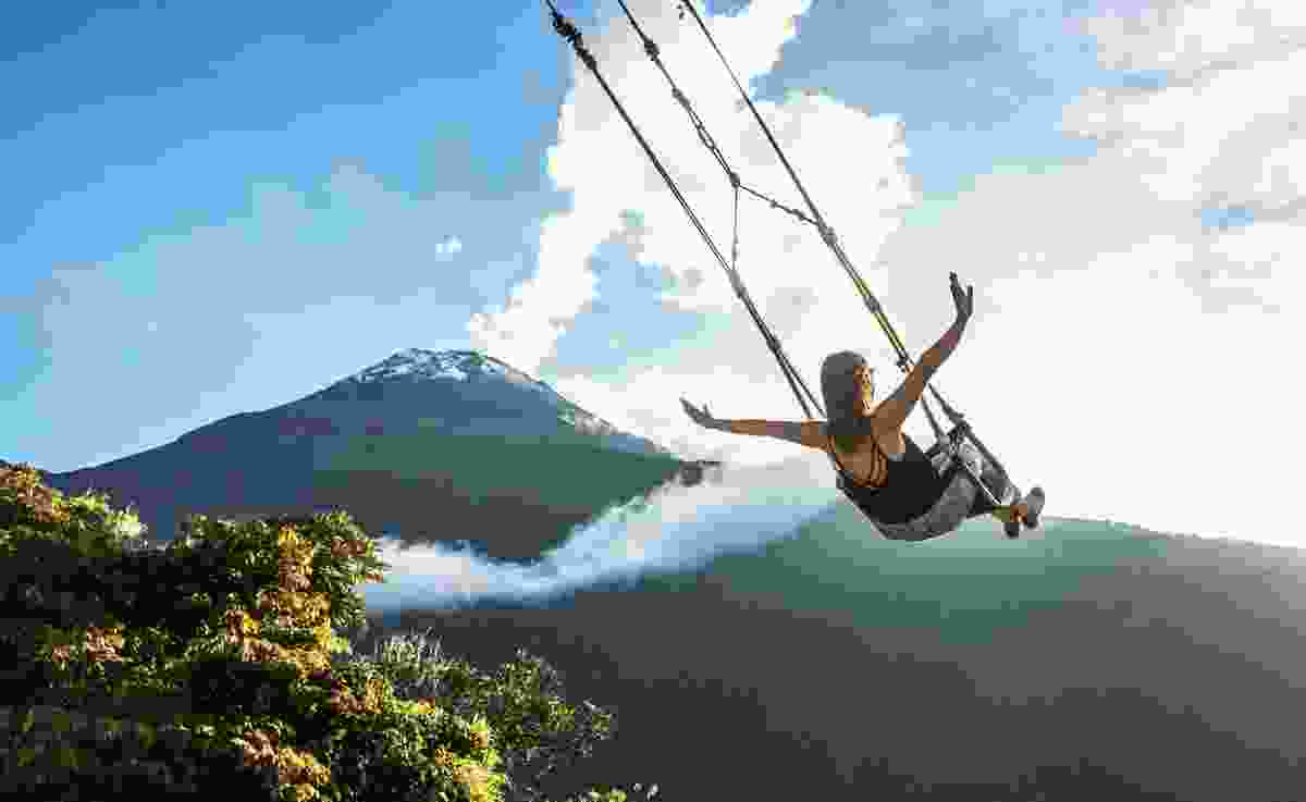 The Swing at the End of the World, Baños, Ecuador (Dreamstime)